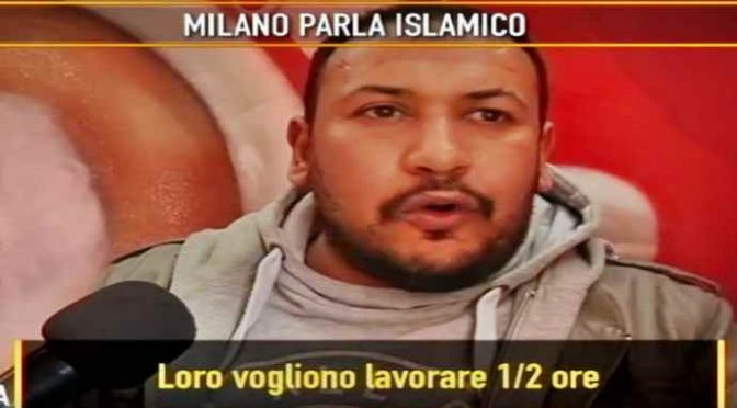 """Islamici a Milano: """"Italia è un posto di merd@"""" – VIDEO"""