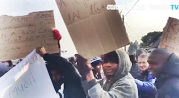 CONETTA: NUOVE VIOLENZE, NIGERIANI MANIFESTANO – VIDEO