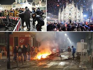 Capodanno di guerriglia ostaggio dei centri sociali: appiccano incendio, poi assaltano vigili del fuoco