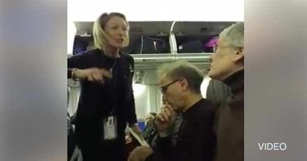 Feminazi anti-Trump ha crisi di nervi su aereo: passeggeri la fanno cacciare – VIDEO