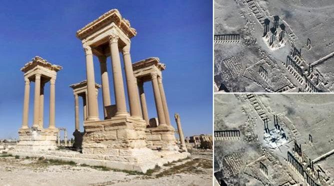 ISLAM: ISIS DISTRUGGE TETRAPYLON PALMIRA – VIDEO