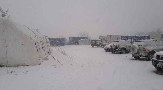 Forti venti, freddo e neve: lunedì arriva Attila, le casette ancora no