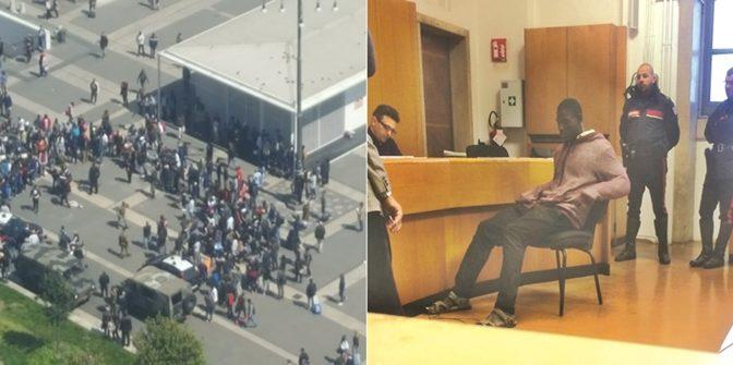 Milano, africani armati di sprange assaltano militari durante scontri: feriti