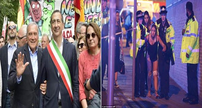 MANCHESTER E' IL MONDO SENZA FRONTIERE DEI PIRLA DI MILANO: SONO TRA NOI
