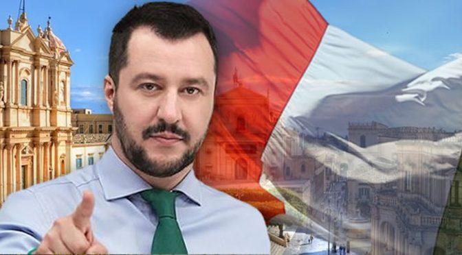 """SALVINI: """"BLOCCO NAVALE E AFFONDARE BARCONI, UE CI PRENDE IN GIRO"""""""
