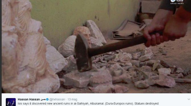 ISLAMICI SCOPRONO ANTICHE STATUE ROMANE E LE DISTRUGGONO – VIDEO