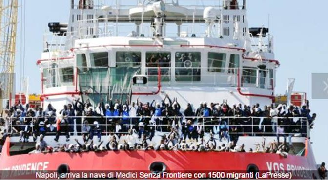 ONG, NAVE MEDICI SENZA FRONTIERE BLOCCATA A LARGO LAMPEDUSA