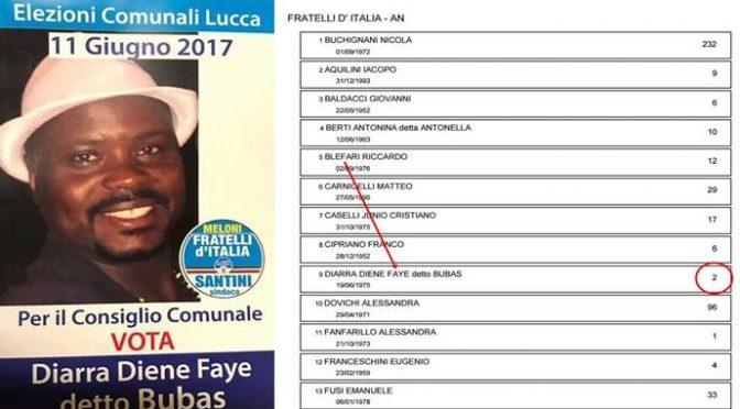 Flop, il candidato africano islamico ha portato 2 voti alla Meloni
