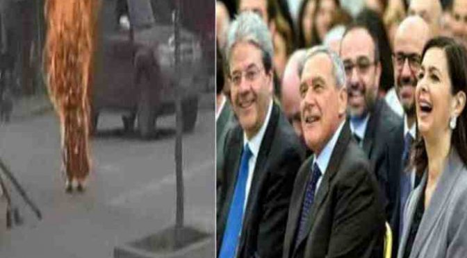 DISOCCUPATA ITALIANA SI DA' FUOCO: NON AVEVA SUSSIDIO DA PROFUGO