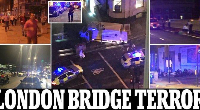 ATTACCO A LONDRA: 3 TERRORISTI IN FUGA, MORTI A LONDON BRIDGE – VIDEO