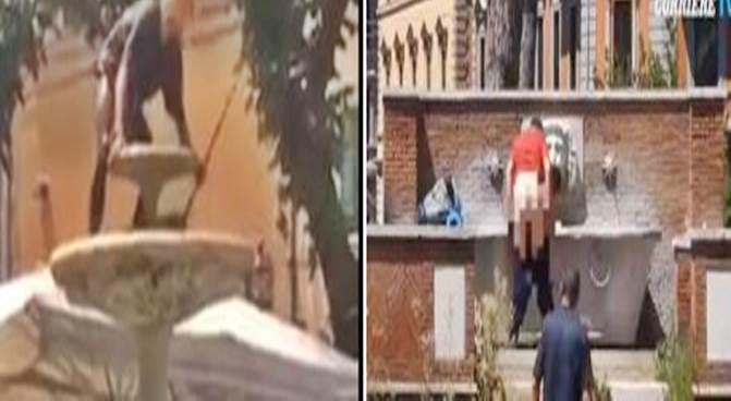 Degrado Italia: fontane ostaggio di clandestini e folli – VIDEO