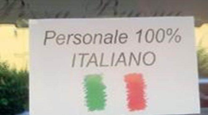 """Comune PD contro ristoratore che assume solo Italiani: """"Rimuovi quel cartello"""""""