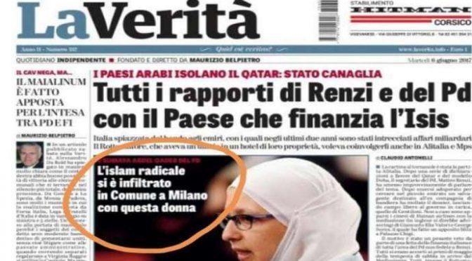 Ufficiale, un'estremista islamica al Comune di Milano