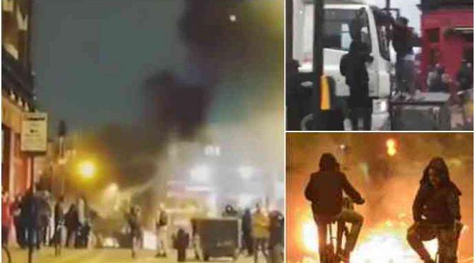 LONDRA BRUCIA: AFRO-ISLAMICI METTONO A FERRO E FUOCO CAPITALE GB – VIDEO