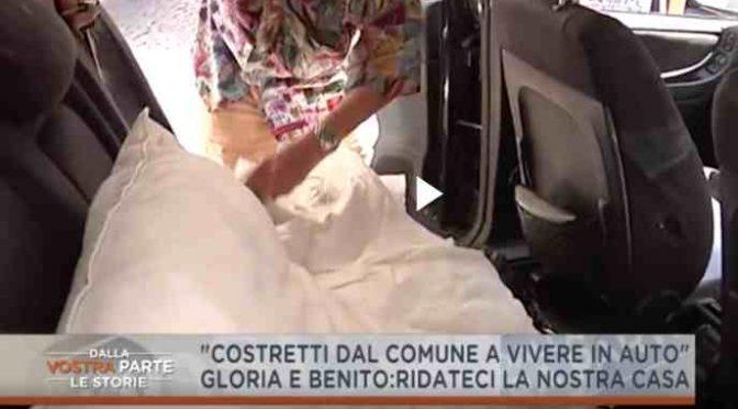 Roma, coppia di 80enni costretta a vivere in auto – VIDEO