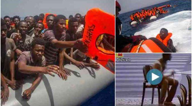 SCANDALOSE ONG: RACCATTATI 450 CLANDESTINI SU SPIAGGE LIBICHE