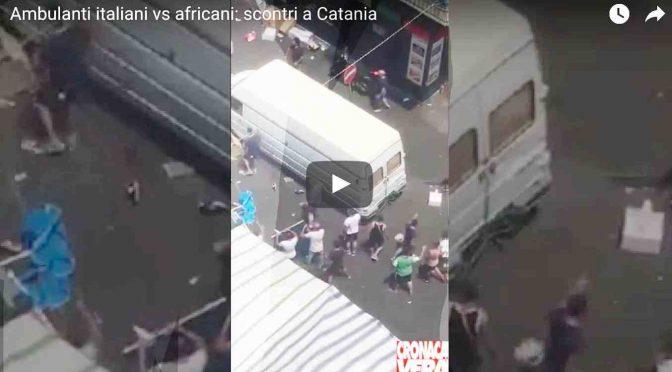 SCONTRI TRA AMBULANTI ITALIANI E ABUSIVI AFRICANI – VIDEO CHOC