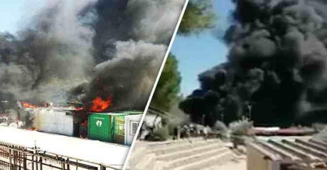 RIVOLTA ISLAMICA: PROFUGHI INCENDIANO CENTRO, POI ATTACCANO POMPIERI – VIDEO