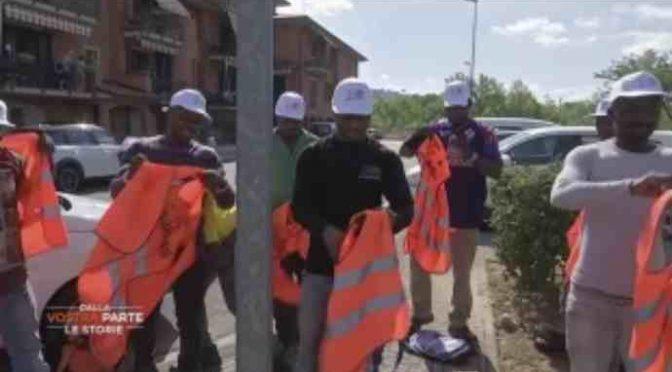 I profughi fanno finta di pulire, scoperta la farsa PD a Trento