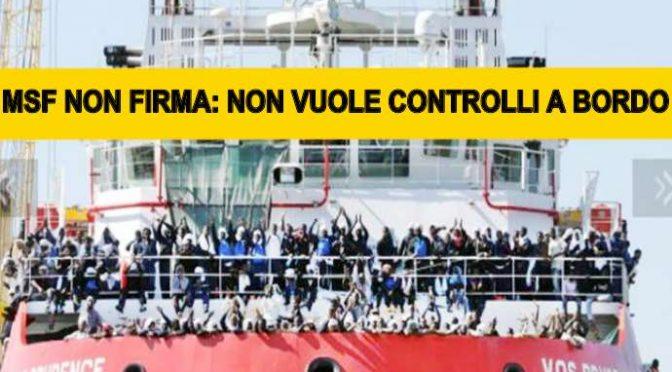 """MSF: """"CONTINUEREMO A TRAGHETTARE MIGRANTI"""", GC FARA' DA TAXI"""