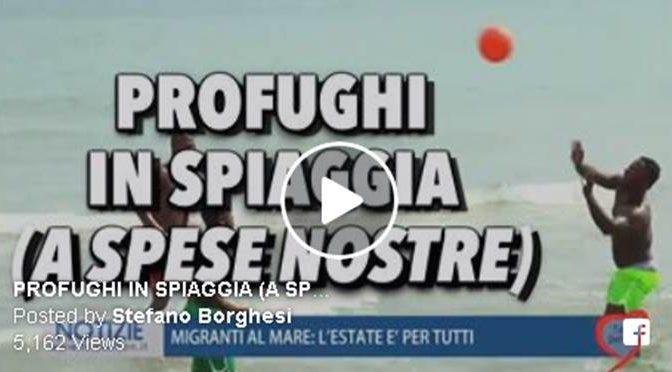PROFUGHI IN VACANZA AL MARE PER 2 SETTIMANE – VIDEO