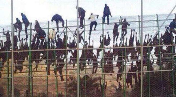 Invasione: 260 immigrati assaltano barriera di Melilla
