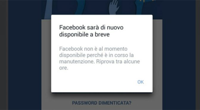 Facebook down: Facebook e Instagram in tilt