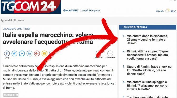 Il branco dei Biondini e lo stupratore Vicentino, le fake news dei media