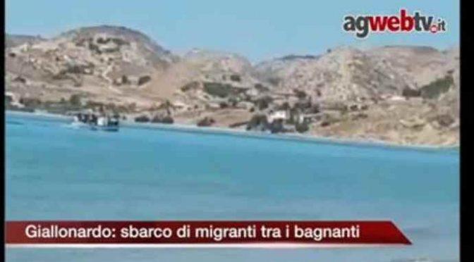 Truppe afroislamiche sbarcano tra i bagnanti ad Agrigento – VIDEO
