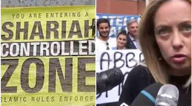 """""""Baci e abbracci"""" davanti alla moschea: protesta anti-Sharia all'Esquilino – VIDEO"""