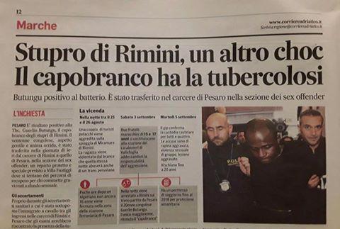 Rimini, capobranco stupratori ha la Tubercolosi