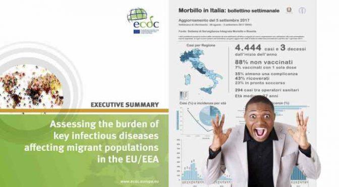 Epidemia Morbillo causata da Immigrati, lo ammette anche la Ue