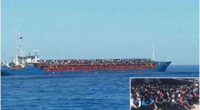 Nave con migliaia a bordo era diretta in Italia, non arriverà