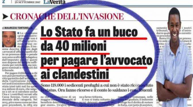 Tassano gli italiani per pagare gli avvocati ai profughi