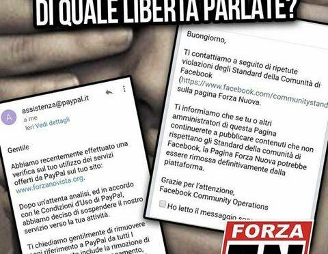 PayPal boicotta Forza Nuova e la democrazia italiana