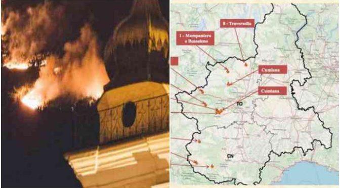 PIEMONTE BRUCIA, ARRESTATO PIROMANE: EVACUAZIONI