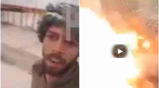 Un selfie di troppo per il guerrigliero islamico – VIDEO