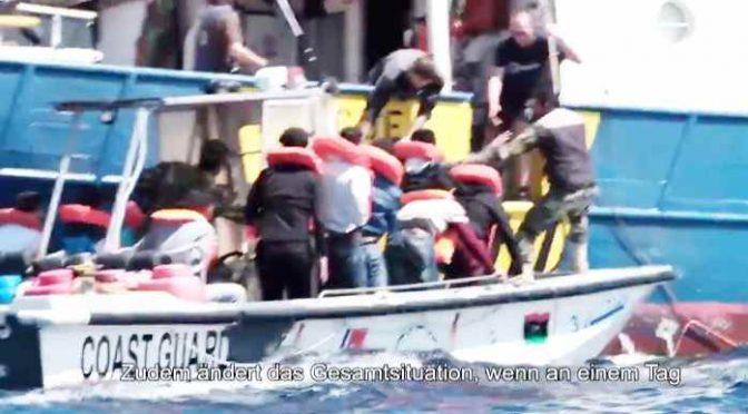 Guardia costiera Libia scorta clandestini verso ITALIA – VIDEO CHOC