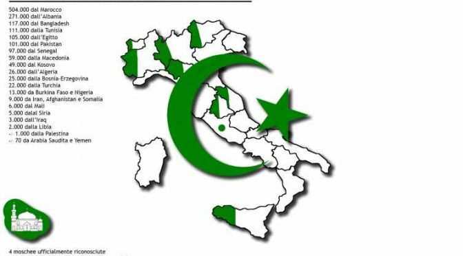 Italia islamica: musulmani erano 2mila nel 1970, oggi sono 2 milioni