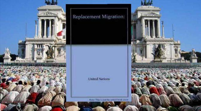 Il piano genocida Onu per l'Italia: sostituire 1 Italiano su 3 con Immigrati