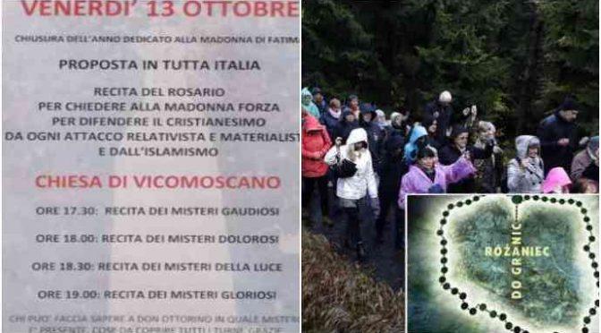 Anche in Italia il Rosario anti-Islamizzazione
