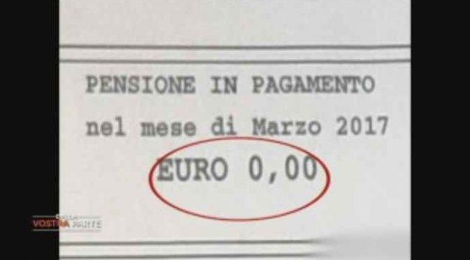 """L'ultima del PD: le pensioni a """"0"""" euro – VIDEO"""