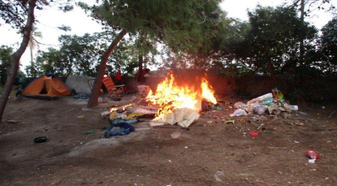 Immigrati, incendio in Riserva Montesilvano