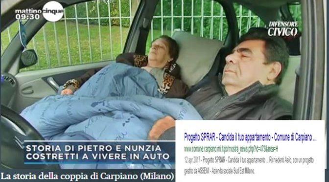 Pietro e Nunzia dormono in auto, Sindaco cerca casa a Migranti – VIDEO