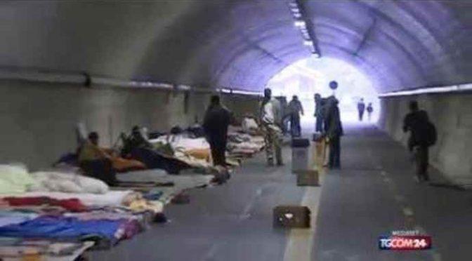 Chiusa galleria Bombi Gorizia: per troppi clandestini in fuga dal Nord Europa