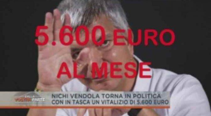 Vendola, 'adottare' bambini con i soldi degli italiani