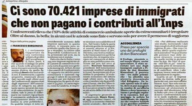 Imprese immigrati portano via i soldi dall'Italia