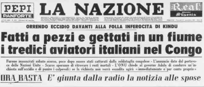 Kindu: quando i connazionali di Kyenge massacrarono 13 Italiani