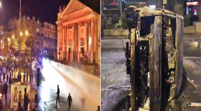 GUERRIGLIA NORDAFRICANA A PARIGI: AUTO INCENDIATE, NEGOZI ASSALTATI – VIDEO CHOC