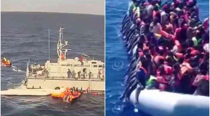 """Elicottero italiano insegue Marina libica per prendersi clandestini: """"Lasciateli a noi"""" – VIDEO"""